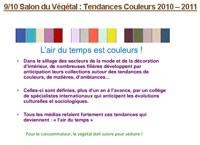 Les couleurs du Végétal (2) : Tendances